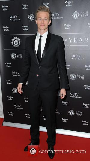 Anders Lindegaard - Celebrities arrive at Manchester United Football Club, Old Trafford, Manchester Manchester United Player Of The Year Awards...