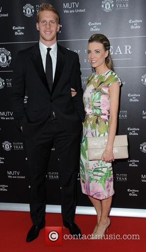 Ben Amos and Dani Emery - Celebrities arrive at Manchester United Football Club, Old Trafford, Manchester Manchester United Player Of...