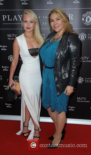 Jorgy Porter and Nicole Barber Lane - Celebrities arrive at Manchester United Football Club, Old Trafford, Manchester Manchester United Player...