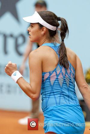 Ana Ivanovic - Ana Ivanovic of Serbia vs. Jelena Jankovic of Serbia  during day six of the Mutua Madrid...