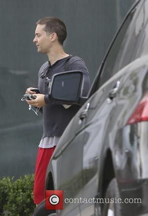 Toby Maguire - Toby Maguire seen leaving a gym. - Los Angeles, California, United States - Thursday 8th May 2014