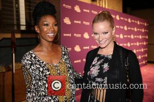 Brandy Norwood and Caitlin O'Connor - Brandy Norwood and Caitlin O'Connor at the 'Lexus Verses and Flow' event held at...