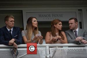 Wayne Rooney, Coleen Rooney, Darren Fletcher and Hayley Grice - Boodles Ladies Day during the May Festival at Chester Racecourse...