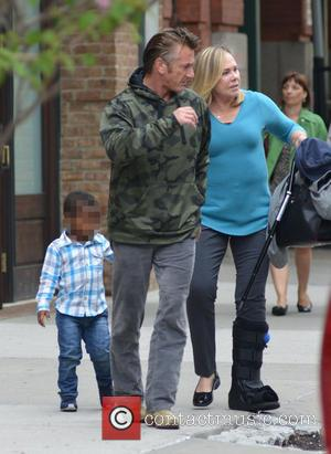 Sean Penn and Jackson Theron - Sean Penn and Jackson Theron out and about together in Manhattan - New York...