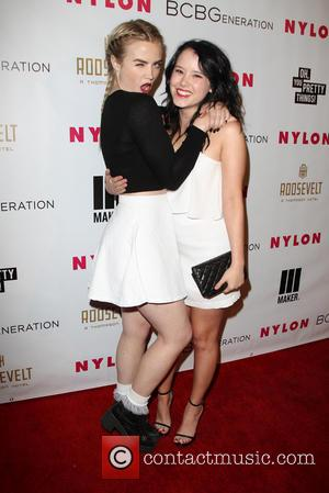 Taylor Spreitler and Guest - Nylon Magazine May Young Hollywood Issue Party - Arrivals - Los Angeles, California, United States...