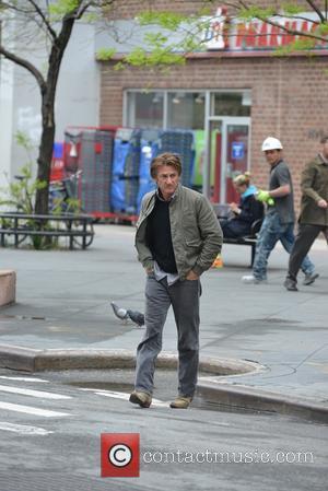 Sean Penn - Sean Penn walking by himself in TriBeCa - Manhattan, New York, United States - Friday 9th May...
