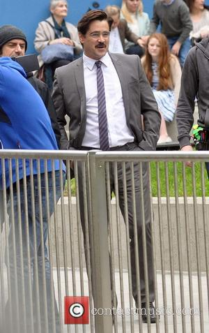 Colin Farrell - Colin Farrell and Rachel Weisz film scenes for their upcoming movie 'The Lobster' in Dublin - Dublin,...