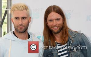 Adam Levine and James Valentine - 102.7 KIIS FM's 2014 Wango Tango - Arrivals - Los Angeles, California, United States...