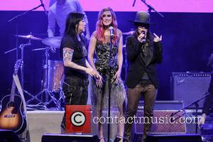 Margaret Cho, Rumer Willis and Linda Perry