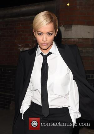 Rita Ora - RIta Ora seen heading to GAY wearing a very smart business looking suit and tie. The singer...