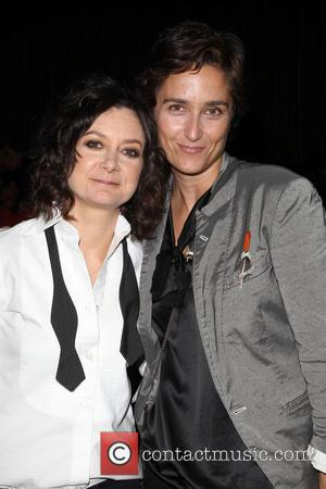 Sara Gilbert and Alexandra Hedison