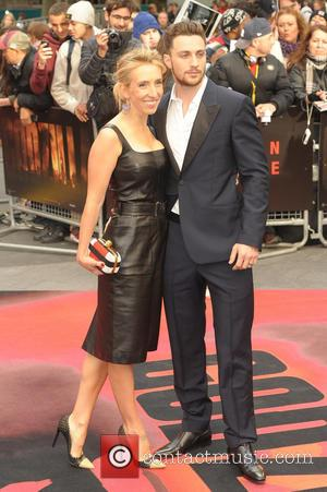 Sam Taylor-Wood and Aaron Taylor-Johnson - European premiere of 'Godzilla' held at the Odeon Leicester Square - Arrivals - London,...