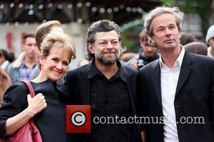 Andy Serkis and Lorraine Ashbourne - European premiere of 'Godzilla' held at the Odeon Leicester Square - Arrivals - London,...