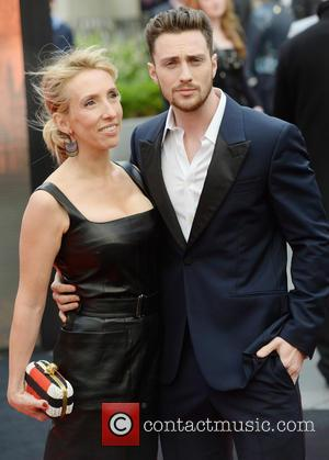 Aaron Taylor- Johnson and Sam Taylor- Wood - European premiere of 'Godzilla' held at the Odeon Leicester Square - Arrivals...