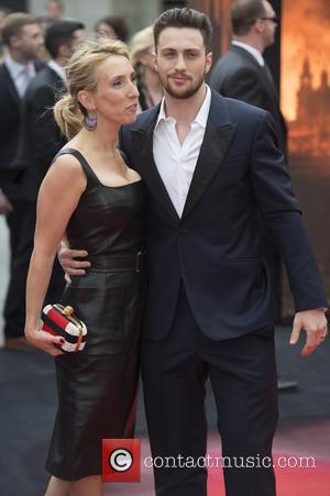 Aaron Taylor-Johnson and Sam Taylor - European premiere of 'Godzilla' held at the Odeon Leicester Square - Arrivals - London,...