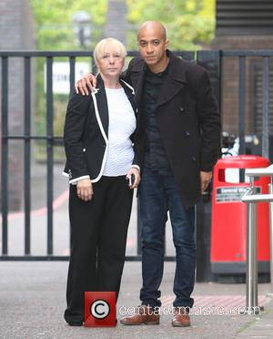 Jade Jones with his mother - Jade Jones and his mother outside ITV Studios - London, United Kingdom - Monday...
