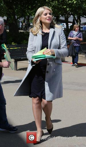 Holly Willoughby and Philip Schofield - Holly Willoughby and Philip Schofield filming This Morning outside ITV Studios - London, United...