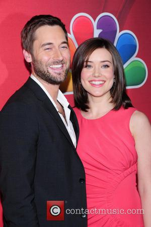 Ryan Eggold and Megan Boone - 2014 NBC Upfront Presentation at The Jacob K. Javits Convention Center - Arrivals -...