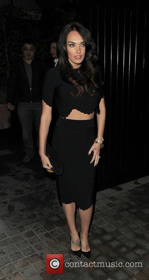 Tamara Ecclestone - Tamara Ecclestone dressed in black and showing a midriff at Chiltern Firehouse restaurant with husband Jay Rutland...