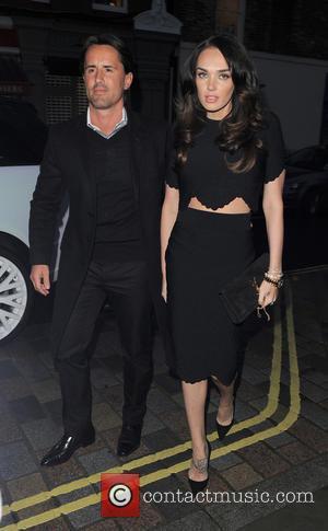 Tamara Ecclestone and Jay Rutland - Tamara Ecclestone dressed in black and showing a midriff at Chiltern Firehouse restaurant with...