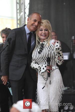 Matt Lauer and Dolly Parton