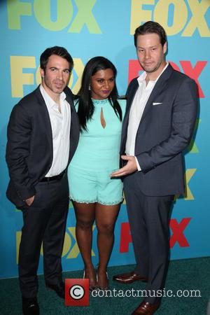 Chris Messina, Mindy Kaling and Ike Barinholtz - FOX Upfronts at The Beacon Theater - Arrivals - NYC, New York,...