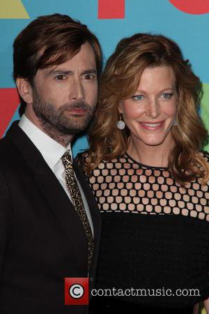 David Tennant and Anna Gunn - FOX Upfronts at The Beacon Theater - Arrivals - NYC, New York, United States...
