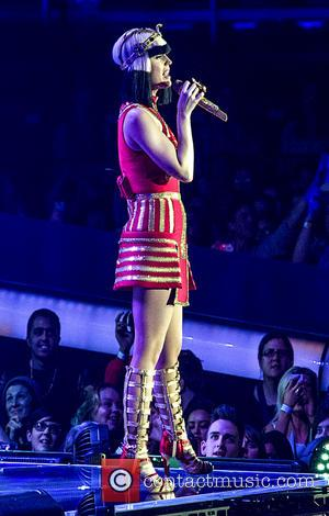 Katy Perry - Katy Perry performing live on stage on her 'Prismatic World Tour' at the LG Arena - Birmingham,...