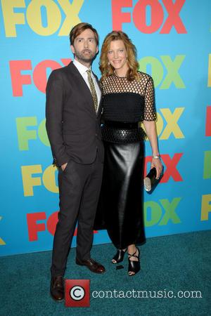 David Tennant and Anna Gunn - FOX NETWORKS 2014 UPFRONT PRESENTATION - Arrivals - Manhattan, New York, United States -...