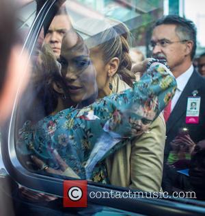 J Lo, Jennifer Lopez and J Lo's mother - Jennifer Lopez aka J Lo leaving the Montefiore Children's Hospital in...