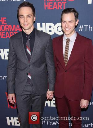 Jim Parsons and Todd Spiewak - The HBO Films New York premiere of The Normal Heart at the Ziegfeld Theatre...