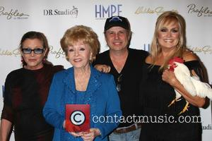 Carrie Fisher, Debbie Reynolds, Todd Fisher and Catherine Hickland