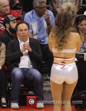 Billy Crystal - Celebrities courtside at the Los Angeles Clippers NBA basketball game against The Oklahoma City Thunder. The Thunder...