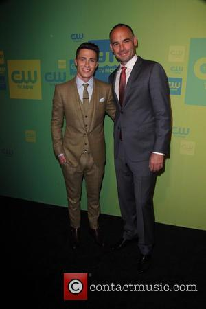 Colton Haynes and Paul Blackthorne
