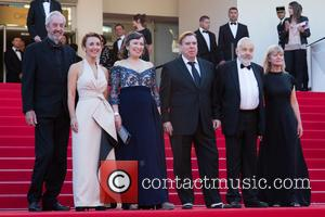 Dick Pope, Dorothy Atkinson, Marion Bailey, Timothy Spall, Mike Leigh and Georgina Lowe