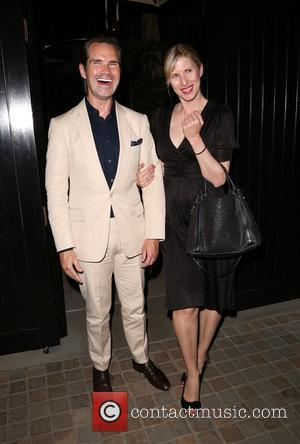 Jimmy Carr and Karoline Copping - Celebrities outside the Chiltern Firehouse in Marylebone - London, United Kingdom - Thursday 15th...