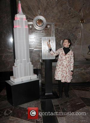 Isabella Rossellini - Isabella Rossellini lights the Empire State Building red to raise awareness about HIV/AIDS - New York City,...