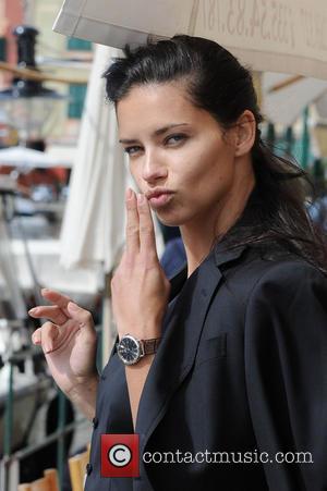 Adriana Lima - Adriana Lima and Karolina Kurkova take part in a photoshoot for the luxurious watch brand IWC, with...