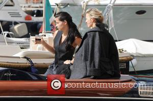 Adriana Lima and Karolina Kurkova - Adriana Lima and Karolina Kurkova take part in a photoshoot for the luxurious watch...