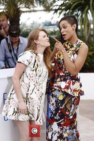 Mireille Enos and Rosario Dawson - The 67th Annual Cannes Film Festival - 'The Captive' - Photocall - Cannes, France...