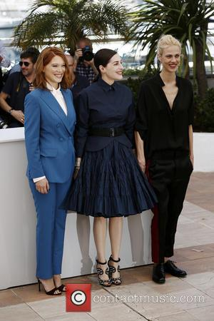 Aymeline Valade, Lea Seydoux and Amira Casar