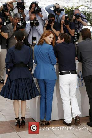 Bertrand Bonello, Lea Seydoux and Amira Casar