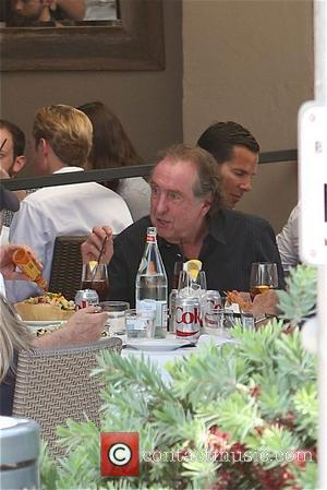 Eric Idle - Eric Idle of Monty Python fame enjoys lunch  in Beverly Hills - Los Angeles, California, United...
