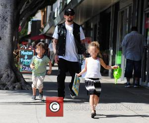 Joel Madden takes his kids to a party - Los Angeles, United States - Saturday 17th May 2014