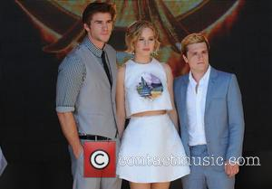 Liam Hemsworth, Jennifer Lawrence, Sam Claflin and Donald Sutherland