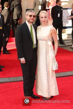Martin Freeman and Amanda Abbington - The Arqiva British Academy Television Awards 2014 (BAFTA) - Arrivals - London, United Kingdom...