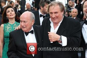 Gerard Depardieu and Sepp Blatter