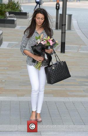 Michelle Keegan - Michelle Keegan carrying flowers in Media City Manchester after a   press screening of  two...