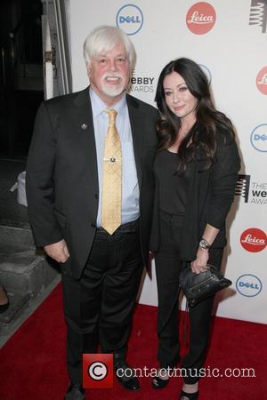 Robert Scheer and Shannen Doherty