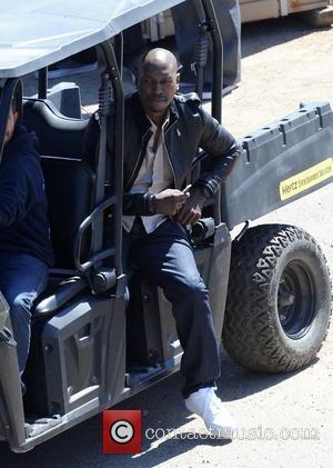 Tyrese Gibson - Vin Diesel filming last scenes for